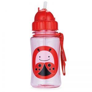 Skip Hop Детска бутилка със сламка Zoo - Калинка
