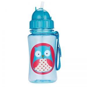 Skip Hop Детска бутилка със сламка Zoo - Бухалче