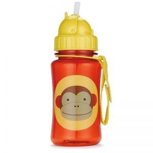 Skip Hop Детска бутилка със сламка Zoo - Маймунка