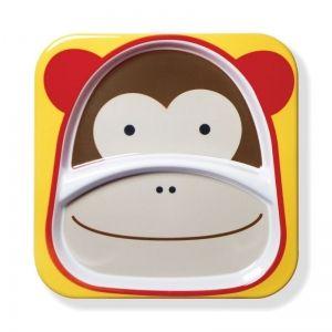 Skip Hop Детска двойна чинийка Zoo - Маймунка