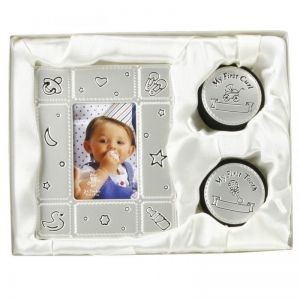 The Juliana Collection комплект рамка за снимка и кутийки за първата къдричка и първото зъбче