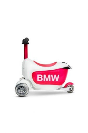 Micro Mini 2 Go Deluxe BMW тротинетка White/Raspberry Red