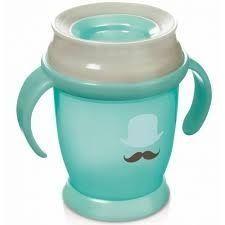 Lovi - Чаша с дръжки 360 градуса Retro 210 мл - зелена