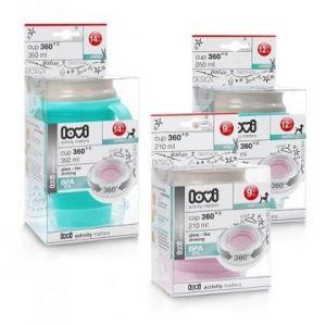 Lovi - Чаша с дръжки 360 градуса Retro 210 мл - розова