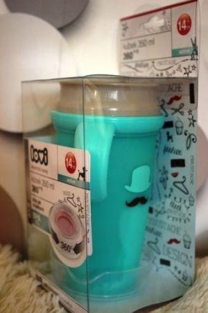 Lovi - Чаша с дръжки 360 градуса Retro 350 мл-зелена